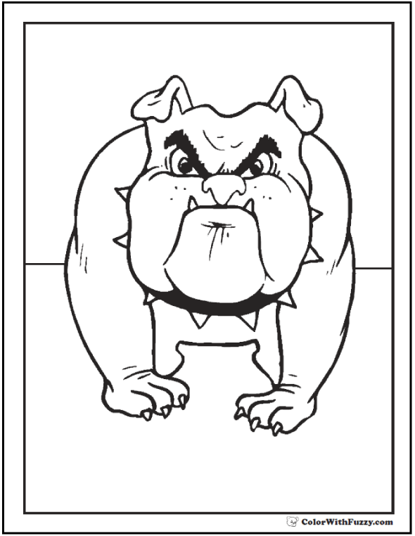 Guardian bull dog coloring page.