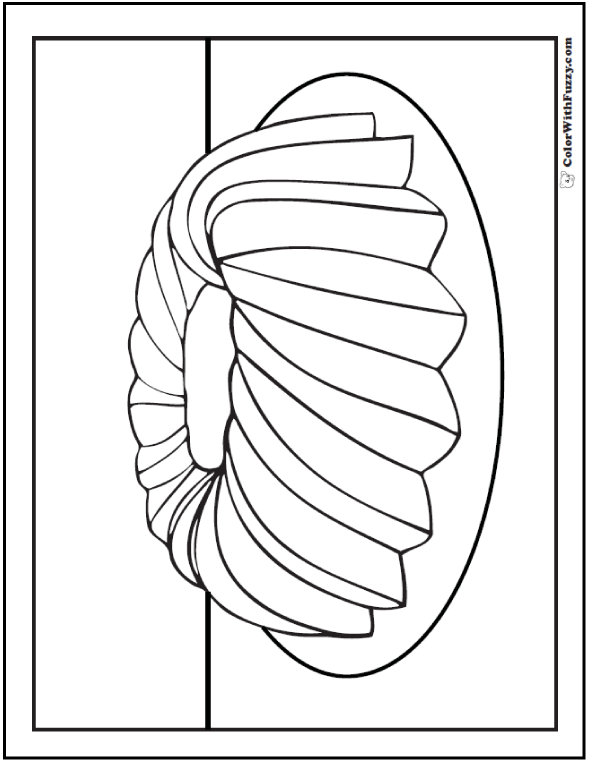 Bundt Cake Coloring Page