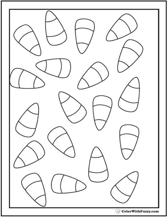 Candy Corn Coloring Pages: Count and color.