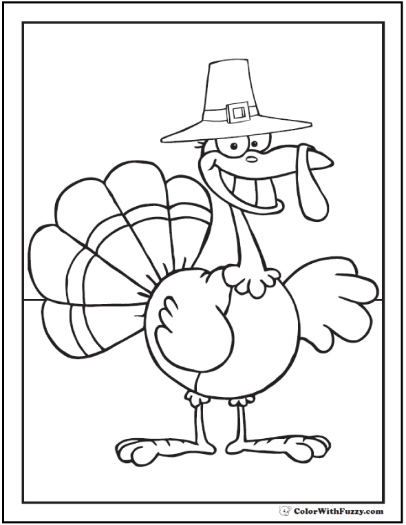 Cartoon Turkey Printable