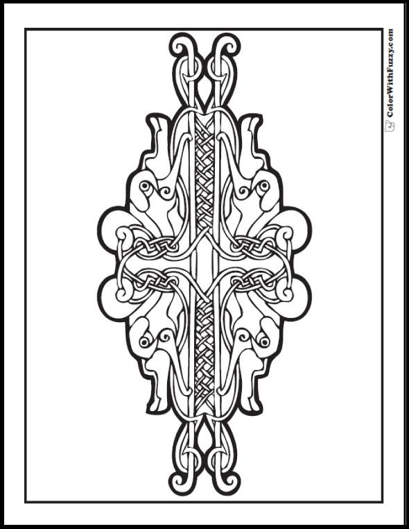 90 celtic coloring pages irish  scottish  gaelic