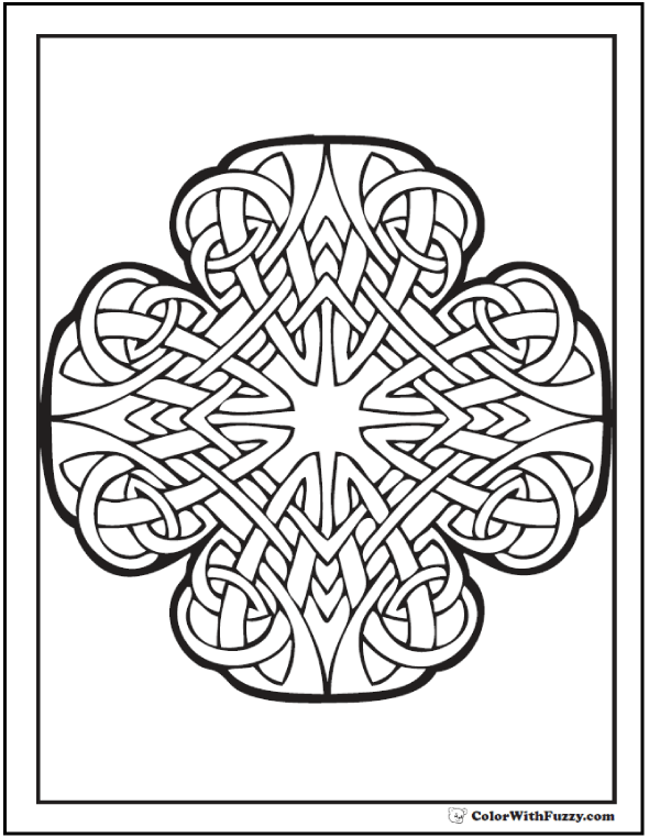 celtic coloring pages at colorwithfuzzycom radiant cross celtic art designs - Celtic Coloring Book