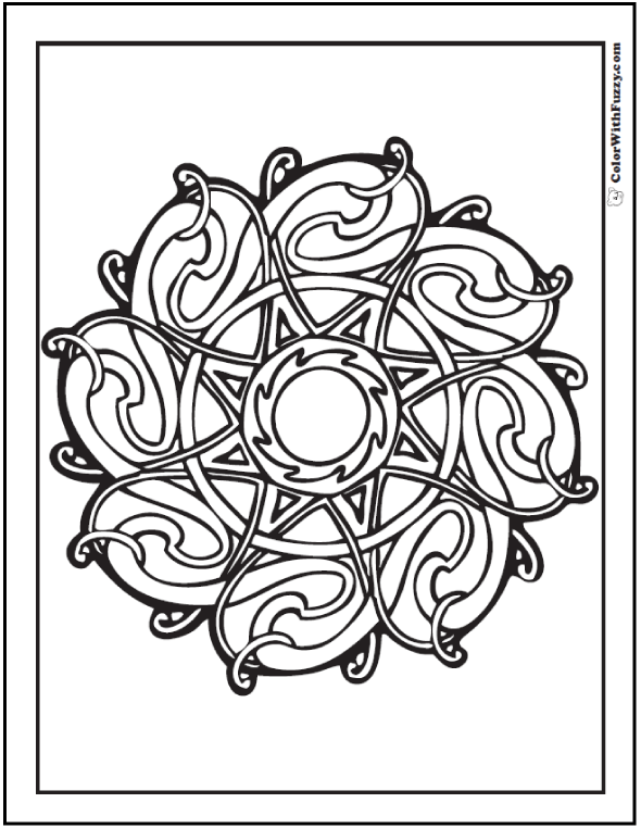 Celtic Coloring  #CelticColoringPages and #KidsColoringPages at ColorWithFuzzy.com