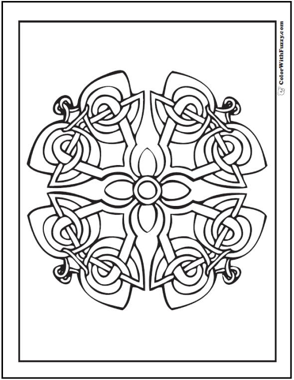 Celtic Coloring Pages at ColorWithFuzzy.com: Decorative Celtic Cross Designs