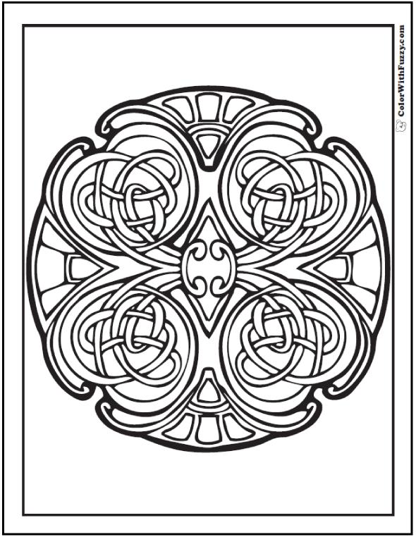 ColorWithFuzzy.com Celtic Designs:  Celtic Mosaic Coloring
