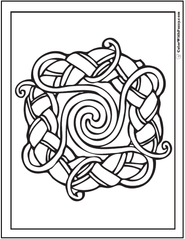 ColorWithFuzzy.com Celtic Designs:  Celtic Ring Designs