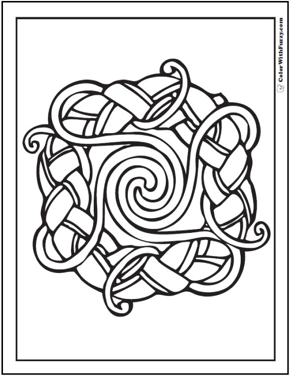 ColorWithFuzzy.com Celtic Designs:  Celtic Spirals Designs