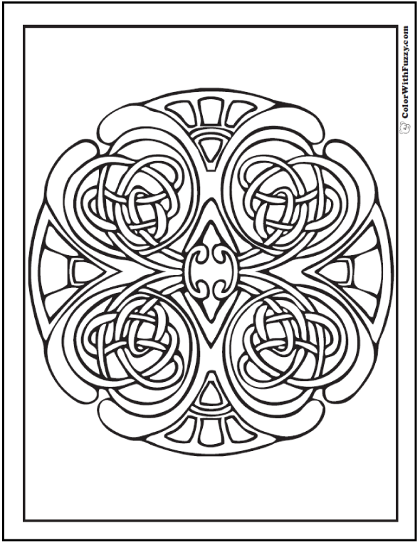 ColorWithFuzzy.com Celtic Designs:  Celtic Swirls Coloring