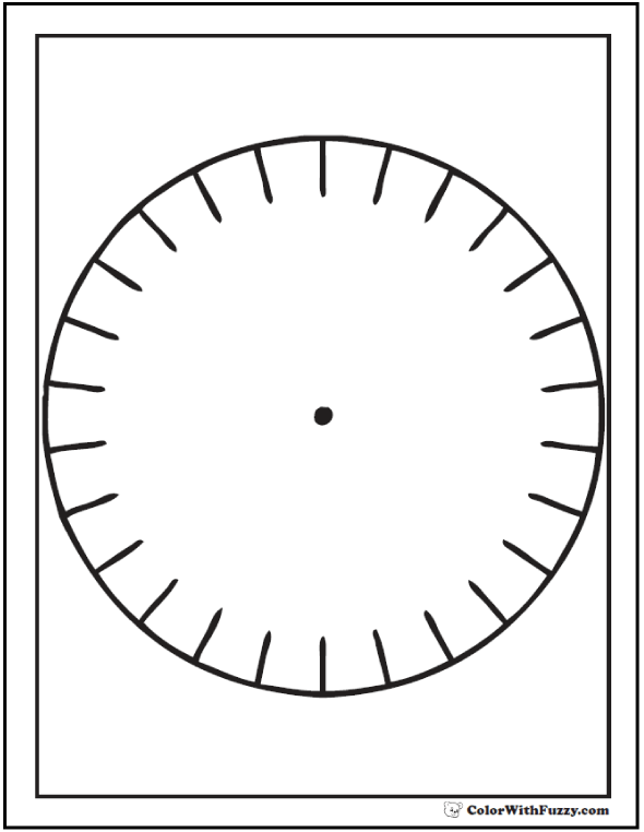 Circle With Center To Color
