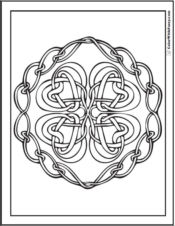 ColorWithFuzzy.com Celtic Knot Designs: Chain Celtic Knots Designs