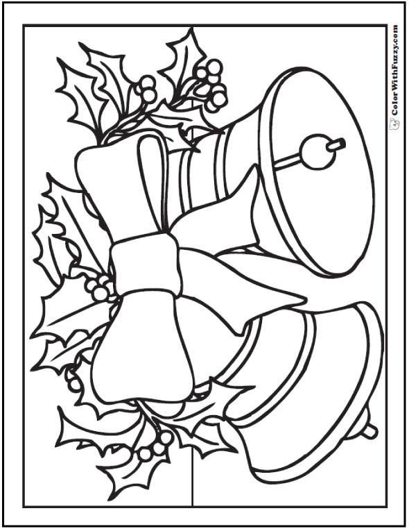 christmas bell coloring sheet