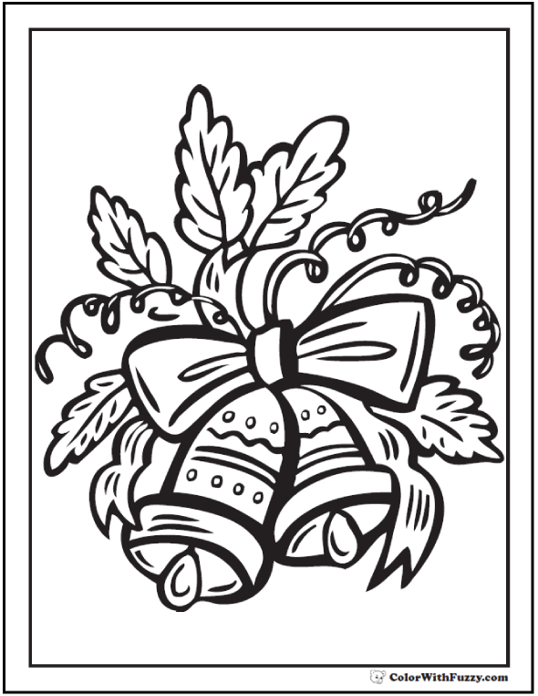 Two Christmas Bells Coloring Picture