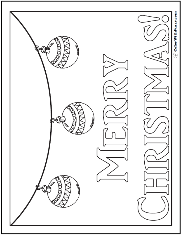 Merry Christmas Coloring Picture or Banner