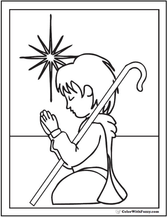 christmas coloring pictures christmas shepherd coloring sheet