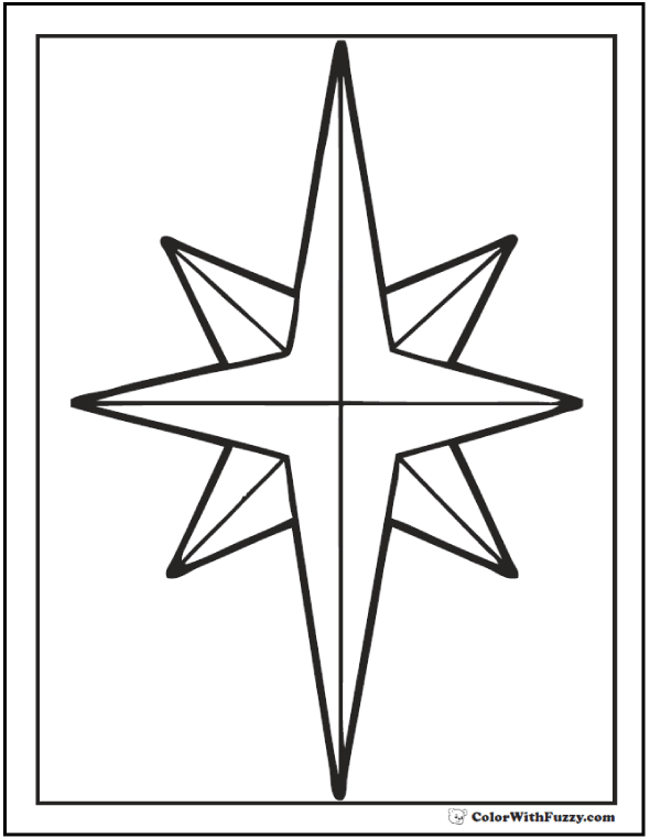 Christmas Star Coloring Printable