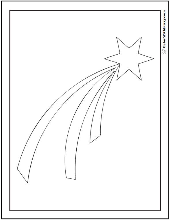 Christmas Star Coloring Sheet