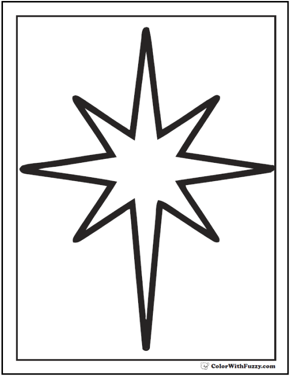 Christmas Star Outline Coloring