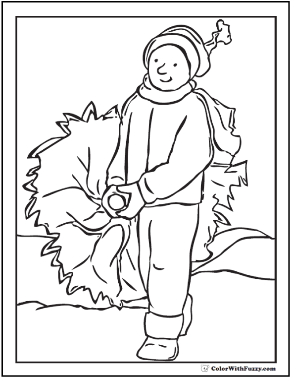 Christmas Tree Dad Coloring Picture