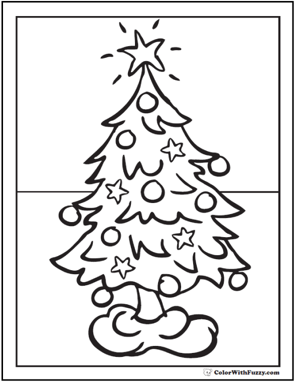 Christmas Tree Skirt Coloring Page