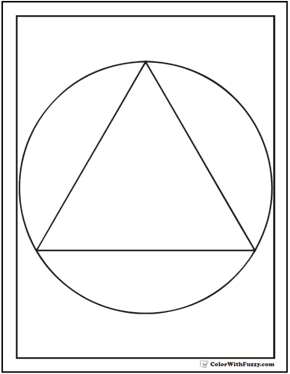 Triangle In Circle To Color