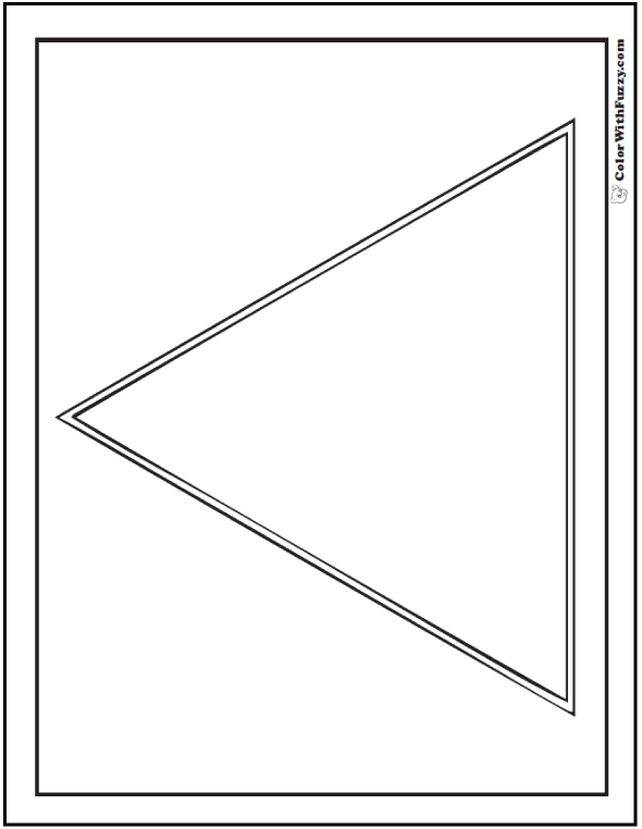 Large Triangle Coloring Page