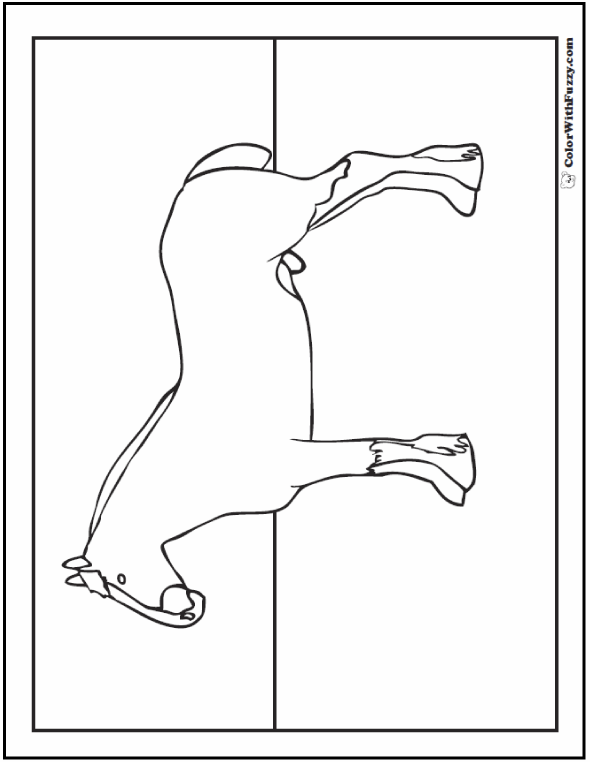 Horse coloring page riding showing galloping for Clydesdale coloring pages