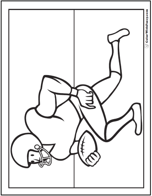 College Football Coloring Sheets