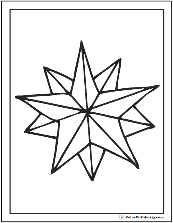 free coloring stars pages - photo#3