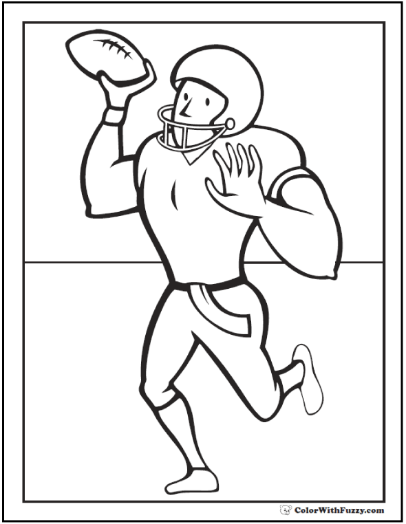 Forward Pass Coloring Football Pages