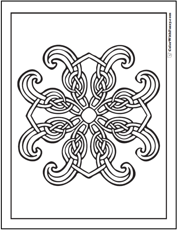 Celtic Coloring Pages at ColorWithFuzzy.com: Coloring Page Celtic Cross: Famous Irish art.