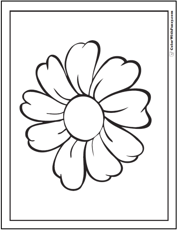 Coloring Page Daisy