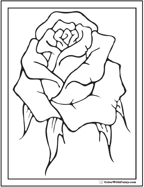 coloring page new rose - Printable Coloring Pages Roses