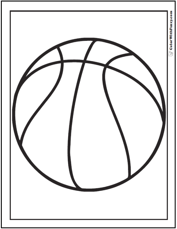 Coloring Page Of A Basketball