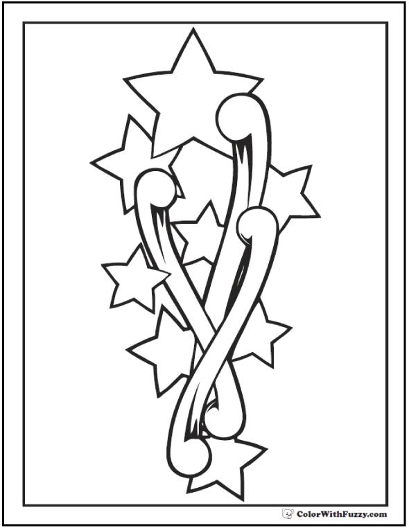 Rising Stars Coloring PDF