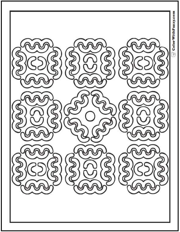 Kaleidoscope Coloring Pages And Patterns