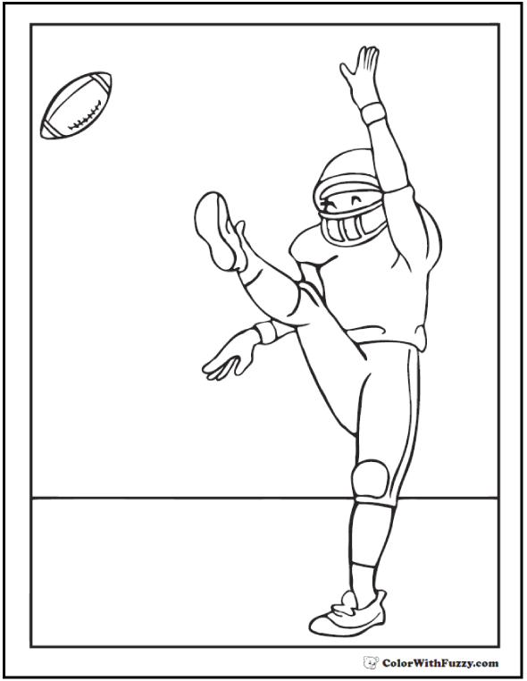 kick off football coloring sheet - Coloring Pages Football Players