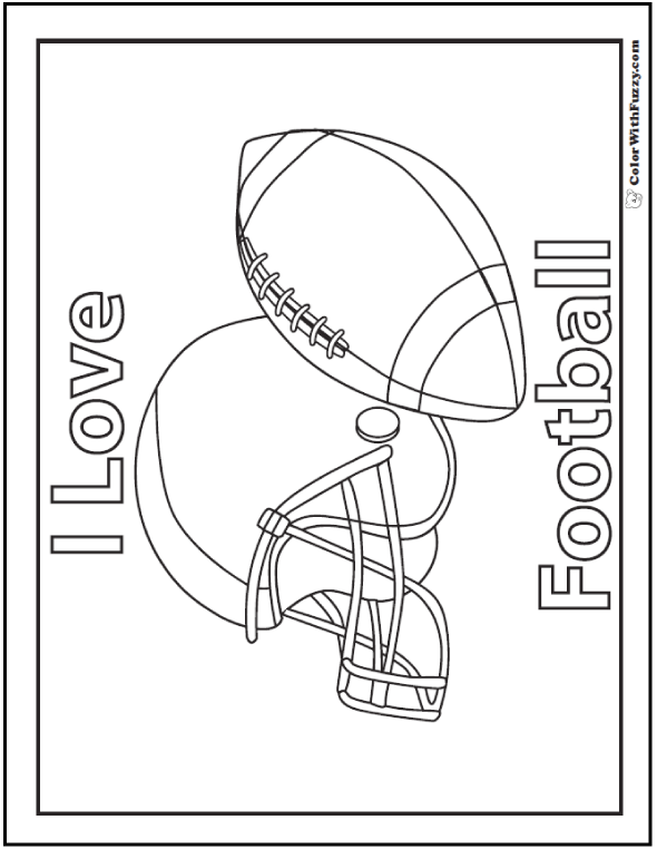 33+ Football Coloring Pages Customize And Print Ad-free PDF