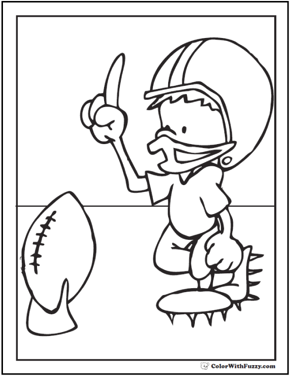 Coloring Pages For Boys Football