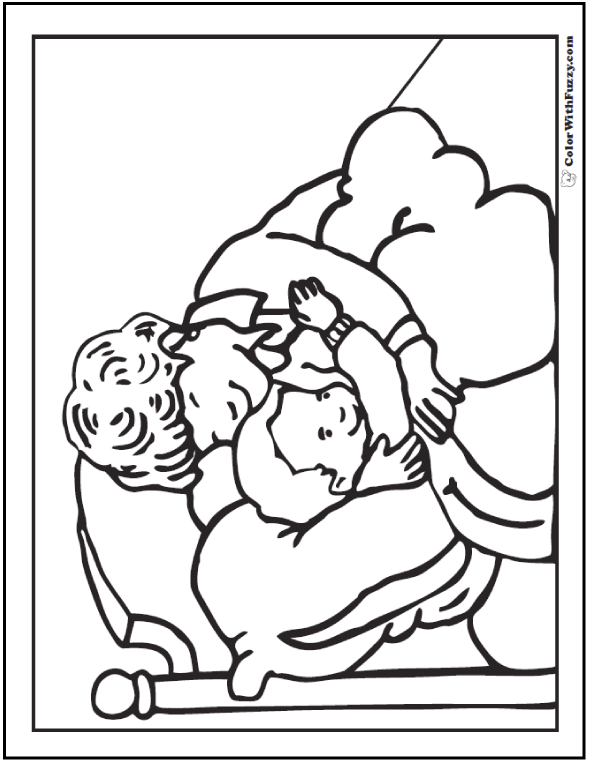 Bedtime Coloring Pages For Mom