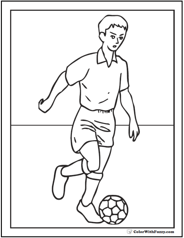 Offensive Midfielder Soccer Coloring PDF