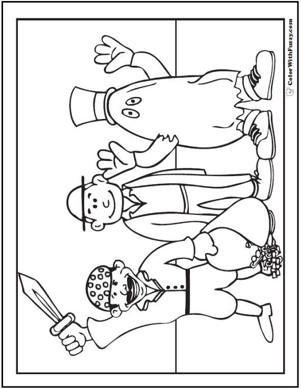 Coloring Pages Halloween Costumes