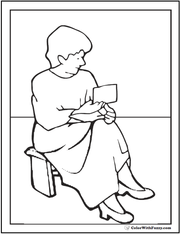 Thoughtful Coloring Pages For Mother's Day