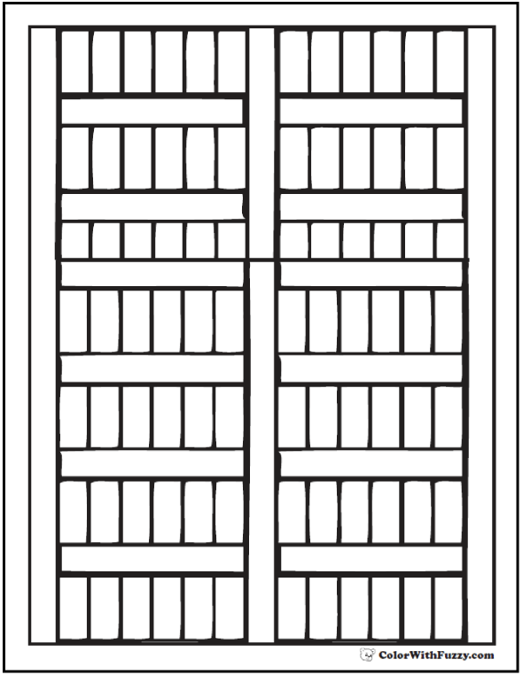Geometric Slats Coloring Pages Pattern