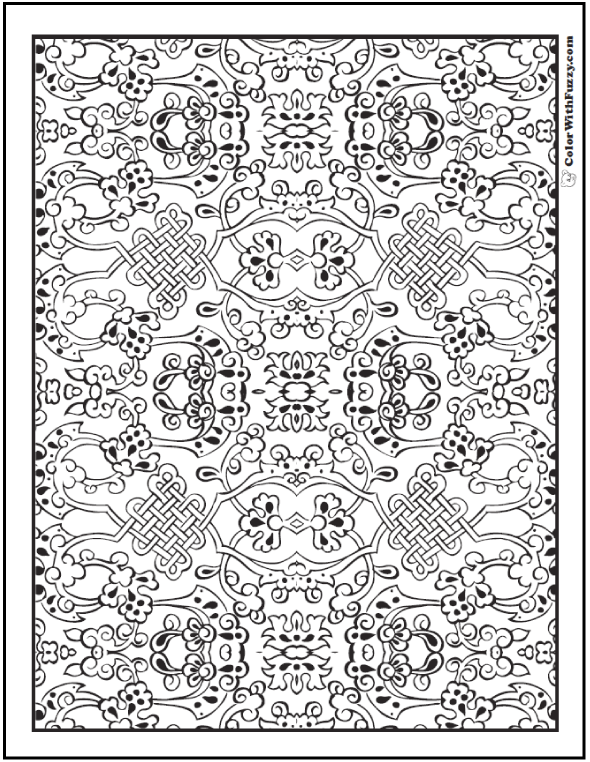 Celtic Mosaic Coloring Pages | Coloring Pages