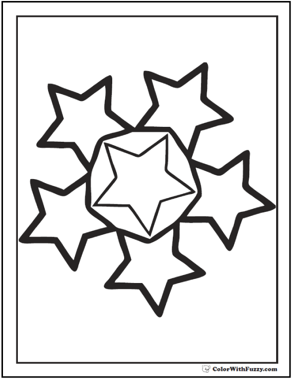 Circle of Stars Coloring Sheet