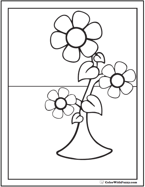 Coloring Pages With Spring Flowers