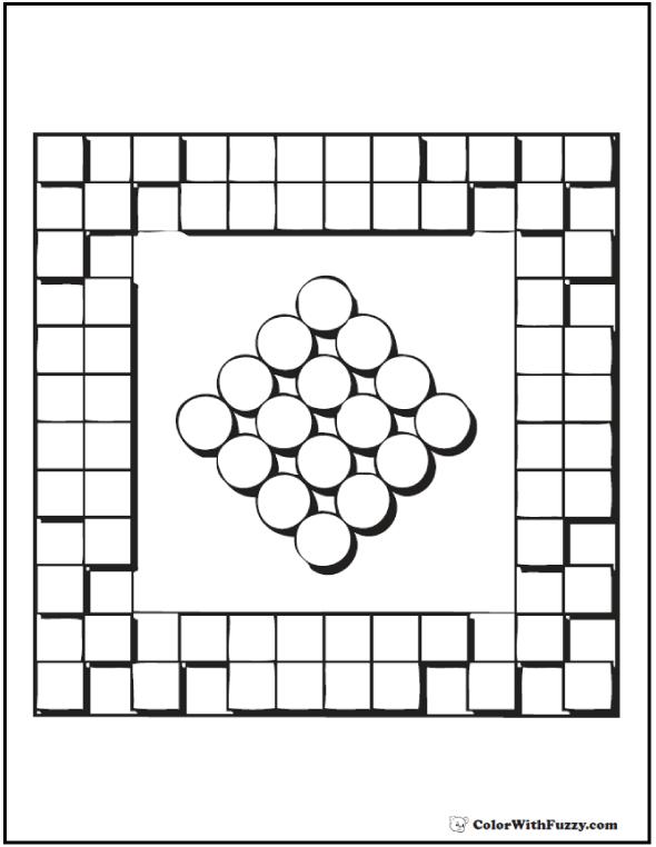 Coloring Patterns: Circles and Squares