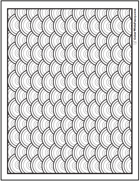 Rainbow Patterns Coloring Sheet