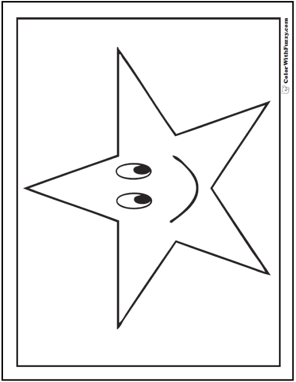 Happy Star Coloring Printable