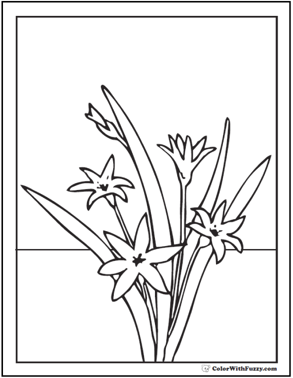 Symbol Of Spring - Coloring Symbolic Of Spring